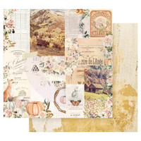 Prima Marketing - Double sided 12x12 Paper w/Foil Accents - Autumn Sunset - Autumn Morning (AUT12 95416)