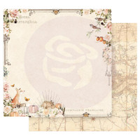 Prima Marketing - Double sided 12x12 Paper w/Foil Accents - Autumn Sunset - Falling Leaves (AUT12 95454)