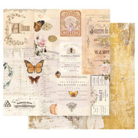 Prima Marketing - Double sided 12x12 Paper w/Foil Accents - Autumn Sunset - Autumn Memories (AUT12 95461)