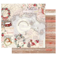 Prima Marketing - Double sided 12x12 Paper w/Foil Accents - Christmas In The Country - Northern Regions (CITC12 95256)