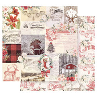 Prima Marketing - Double sided 12x12 Paper w/Foil Accents - Christmas In The Country - Compliments Of The Season (CITC12 95263)