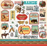 "Carta Bella - Element Sticker 12""x12""- Cowboy Country (CC77014)"