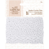 DoCrafts - Papermania - Nature's Gallery - Jumbo Crochet Trim - Oyster Blush (PM358204)