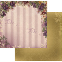 "Couture Creations - Double-Sided Paper 12""X12"" - Hearts Ease - Orchid Delight (CO724176)"