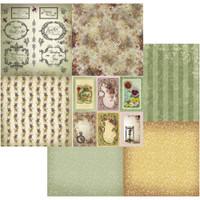 """Couture Creations - Double-Sided Paper 12""""X12"""" - Hearts Ease - Journaling Pansies 4/up (CO724199)"""