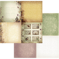 """Couture Creations - Double-Sided Paper 12""""X12"""" - Hearts Ease - Dreaming Pansies 4/up (CO724200)"""
