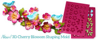 Heartfelt Creations - I WANT IT ALL - Cherry Blossom Retreat Collection - 3D Shaping Mold - 3D Cherry - HCFB1474 - samples
