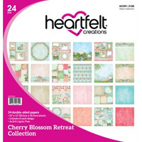 "Heartfelt Creations - I WANT IT ALL - Cherry Blossom Retreat Collection - Double-Sided Paper Pad 12""X12"" 24/Pkg"