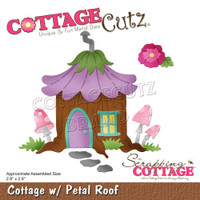 "Cottage Cutz - Magical Garden - Cottage W/Petal Roof 2.8""X2.8"" (CC622)"