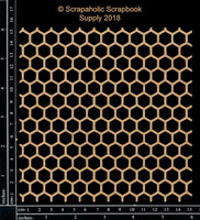 Scrapaholics - Laser Cut Chipboard - Honeycomb Panel (S50398)