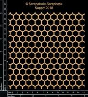Scrapaholics - Laser Cut Chipboard - Honeycomb Panel (S50398)