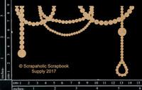Scrapaholics - Laser Cut Chipboard - Pearl Dangle Border (S50947)