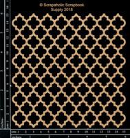 Scrapaholics - Laser Cut Chipboard - Quatrefoil Panel (S50152)