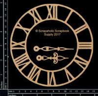 Scrapaholics - Laser Cut Chipboard - Medium Roman Clock (S50770)