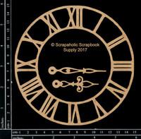 Scrapaholics - Laser Cut Chipboard - Medium Roman Clock (S50770)