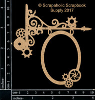 Scrapaholics - Laser Cut Chipboard - Steampunk Hanging Sign (S50985 )