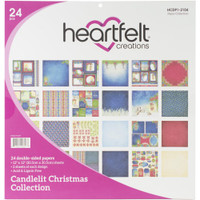 """Candlelit Christmas - Double-Sided Paper Pad 12""""X12"""" 24/Pkg"""