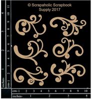 Scrapaholics - Laser Cut Chipboard - Flourish/Flourish Bits (S49934)