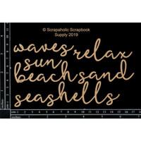Scrapaholics - Laser Cut Chipboard - Beach Words (S52033)