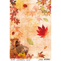 Ciao Bella - Decoupage Rice Paper Sheet - Sound of Autumn Collection - Sweet October (CBRP060)