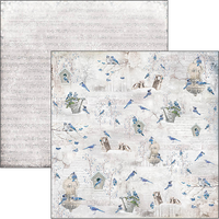 Ciao Bella - Double-Sided Cardstock 12x12 - Time For Home - Blue Jay (CBSS081)