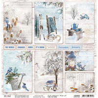 Ciao Bella - Double-Sided Cardstock 12x12 - Time For Home - Winter Cards (CBSS083)