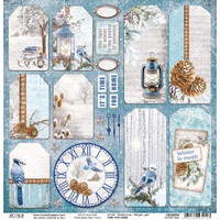 Ciao Bella - Double-Sided Cardstock 12x12 - Time For Home - Winter Tags (CBSS084)