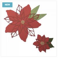 Sizzix - Lisa Jones - Framelits Dies - Poinsettia (663464)