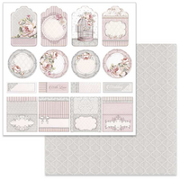 Stamperia - Double-Sided Cardstock 12x12 - Wedding Tags (SBB628)