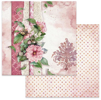 Stamperia - Double-Sided Cardstock 12x12 - Flowers For You - Pink Background (SBB644)