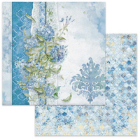 Stamperia - Double-Sided Cardstock 12x12 - Flowers For You - Light Blue Background (SBB646)