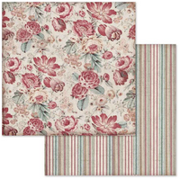 Stamperia - Double-Sided Cardstock 12x12 - Grand Hotel - Wallpaper With Roses (SBB648)