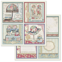 """Stamperia - Double-Sided Paper Pad 12""""X12"""" 10/Pkg - Grand Hotel (SBBL57)"""