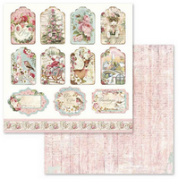 Stamperia -Collection Pack 8x8- Pink Christmas (SBBS03)