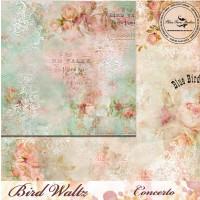 Blue Fern Studios - Bird Waltz - 12x12 dbl sided paper - Concerto (687776)