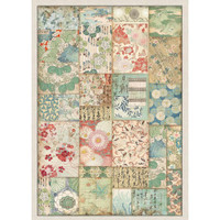 Stamperia - Decoupage Rice Paper A4 - Oriental Garden Collection - Patchwork (DFSA4391)