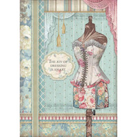 Stamperia - Decoupage Rice Paper A4 - Grand Hotel Collection - Mannequin (DFSA4398)