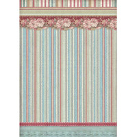 Stamperia - Decoupage Rice Paper A4 - Grand Hotel Collection - Striped Wallpaper (DFSA4399)