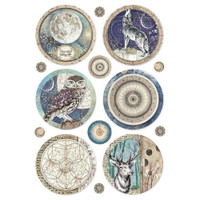 Stamperia - Decoupage Rice Paper A4 - Cosmos Collection - Cosmos Sphere (DFSA4385)