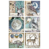 Stamperia - Decoupage Rice Paper A4 - Cosmos Collection - Cosmos Cards (DFSA4387)
