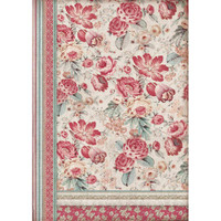 Stamperia - Decoupage Rice Paper A3 - Grand Hotel Collection - Red Flowers (DFSA3040)