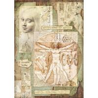 Stamperia - Decoupage Rice Paper A3 - Leonardo Vitruviano (DFSA3045)