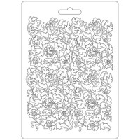 """Stamperia Soft Maxi Mould 5.75""""X8.25"""" - Ramage Flowers & Leaves (K3PTA522)"""