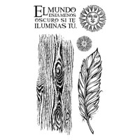 """Stamperia Cling Stamp 5.90""""X7.87"""" -  Cosmos Feather (WTKCCR06)"""