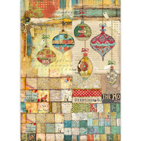 Stamperia - Decoupage Rice Paper - Make A Wish - Patchwork Balls (DFSA3042)