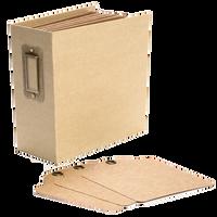Graphic 45 - Square Tag and Pocket Album 5.5x5.5 - Kraft (4501286)