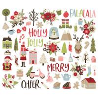 Simple Stories - Bits & Pieces Die-Cuts 59/Pkg - Holly Jolly (HOJ11420)