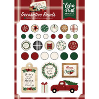 Echo Park - Decorative Brads & Chipboard - A Cozy Christmas (AC189020)