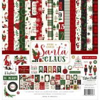 Echo Park - Double Sided Cardstock Collection Pack 12x12 - Here Comes Santa Claus (HC188016)