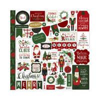 Echo Park - Cardstock Element Sticker 12x12- Here Comes Santa Claus (HC188014)